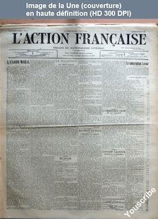 L' ACTION FRANCAISE  numéro 87 du 28 mars 1911