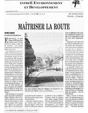 CHANGER LA RUE DU VILLAGE:REPORTAGE DU JOURNAL