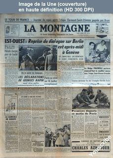 LA MONTAGNE  numéro 12722 du 13 juillet 1959