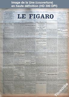 LE FIGARO  numéro 288 du 15 octobre 1914