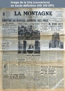 LA MONTAGNE  numéro 12544 du 13 janvier 1959