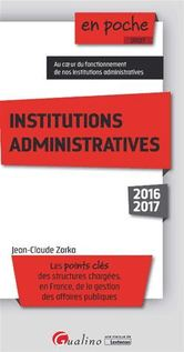 En poche - Institutions administratives 2016-2017