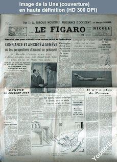 LE FIGARO  numéro 3067 du 20 juillet 1954