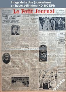 LE PETIT JOURNAL  numéro 23230 du 23 août 1926