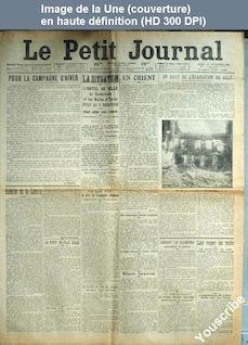 LE PETIT JOURNAL  numéro 18960 du 24 novembre 1914