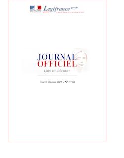 JORF n°0120 du 26 mai 2009