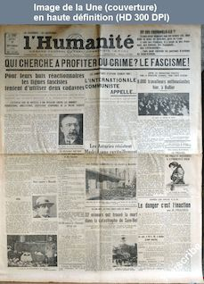 L' HUMANITE  du 11 octobre 1934
