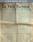 LE PETIT PARISIEN  numéro 6291 du 17 janvier 1894