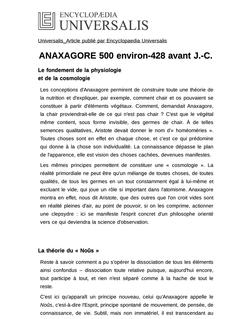ANAXAGORE 500 environ-428 avant J.-C.