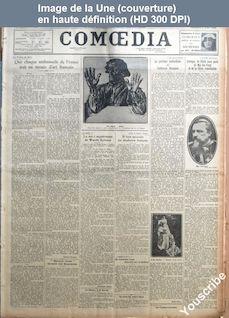 COMOEDIA du 09 avril 1926