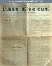 L' UNION REPUBLICAINE DE FONTAINEBLEAU  numéro 1726 du 10 février 1894