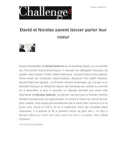 David et Nicolas savent laisser parler leur coeur