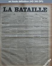 LA BATAILLE  numéro 751 du 03 février 1891