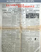 LA NOUVELLE REPUBLIQUE  numéro 547 du 04 juin 1946