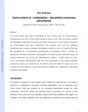 Carte scolaire et clubbisation des petites communes périurbaines