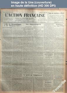 L' ACTION FRANCAISE  numéro 212 du 31 juillet 1931