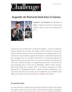 Augustin de Romanet tient bien la Caisse