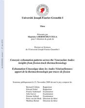 Exhumation Cénozoïque dans les Andes Vénézuéliennes: apport de la thermochronologie par traces de fission