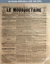 LE MOUSQUETAIRE  numéro 308 du 29 septembre 1854