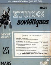 ETUDES SOVIETIQUES numéro 23 du 01 mars 1950
