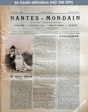 NANTES MONDAIN numéro 10 du 07 novembre 1901