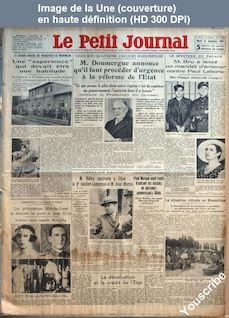 LE PETIT JOURNAL  numéro 26185 du 25 septembre 1934