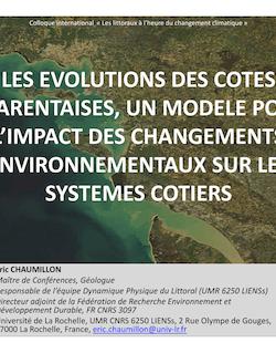 LES EVOLUTIONS DES COTES CHARENTAISES, UN MODELE ...
