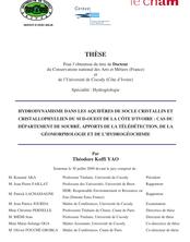 Hydrodynamisme dans les aquifères de socle cristallin et cristallophyllien du Sud-Ouest de la Côte d'Ivoire : cas du département de Soubré : apports de la télédétection, de la géomorphologie et de l'hydrogéochimie