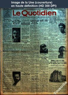 LE QUOTIDIEN  numéro 719 du 28 janvier 1925