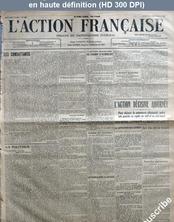 L' ACTION FRANCAISE  numéro 245 du 02 septembre 1914