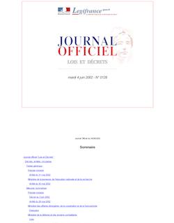 JORF n°128 du 4 juin 2002