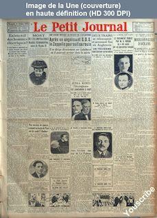 LE PETIT JOURNAL  numéro 24013 du 14 octobre 1928