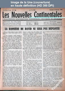 NOUVELLES CONTINENTALES numéro 150 du 05 février 1944