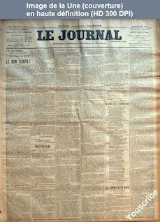 LE JOURNAL  numéro 2776 du 06 mai 1900