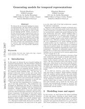 Generating models for temporal representations