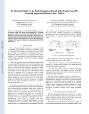 An Electrical Model for the Fault Simulation of Small Delay Faults Caused by Crosstalk Aggravated Resistive Short Defects