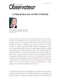 La République des conflits d'intérêts
