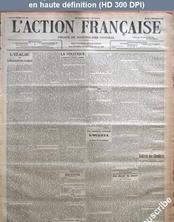 L' ACTION FRANCAISE  numéro 308 du 04 novembre 1913