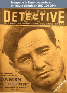 QUI DETECTIVE numéro 186 du 23 janvier 1950