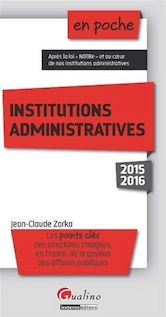 En poche - Institutions administratives 2015-2016