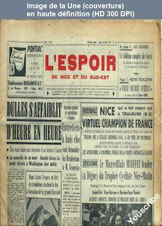 L' ESPOIR DE NICE ET DU SUD EST  numéro 116 du 18 mai 1959