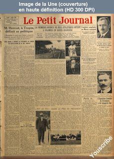 LE PETIT JOURNAL  numéro 22453 du 07 juillet 1924