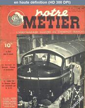 NOTRE METIER LA VIE DU RAIL numéro 141 du 09 mars 1948