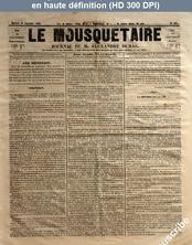 LE MOUSQUETAIRE  numéro 299 du 20 septembre 1854