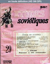 ETUDES SOVIETIQUES numéro 29 du 01 septembre 1950