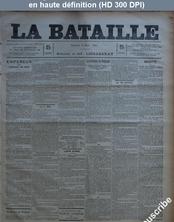 LA BATAILLE  numéro 782 du 06 mars 1891