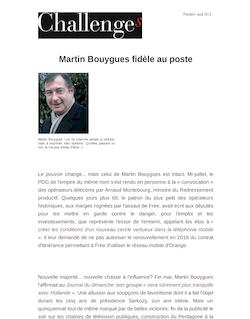 Martin Bouygues fidèle au poste