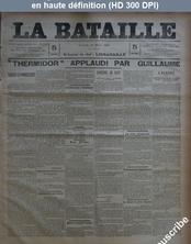 LA BATAILLE  numéro 789 du 13 mars 1891