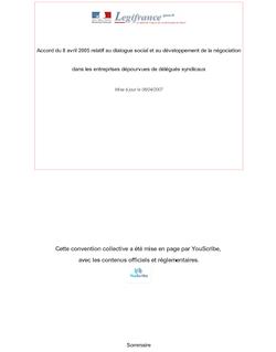 Accord du 8 avril 2005 relatif au dialogue social et au développement de la négociation dans les entreprises dépourvues de délégués syndicaux