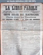 LA LIBRE PAROLE  numéro 5436 du 09 mars 1907